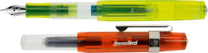 Kaweco Ice Sport Fountain Pen - Yellow & Orange