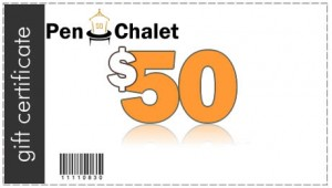 Pen Chalet $50 Gift Certificate