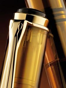 Close up of the Classic Pelikan 200 Fountain Pen in Cognac