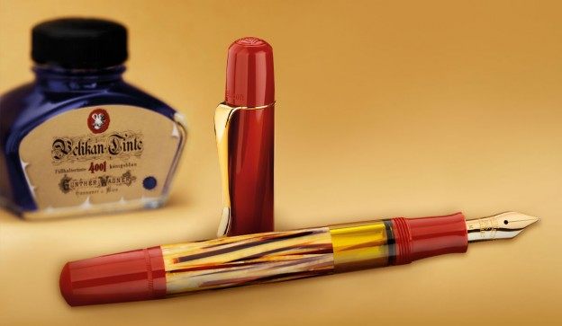 Pelikan M101N Tortoise Shell Fountain Pen Uncapped