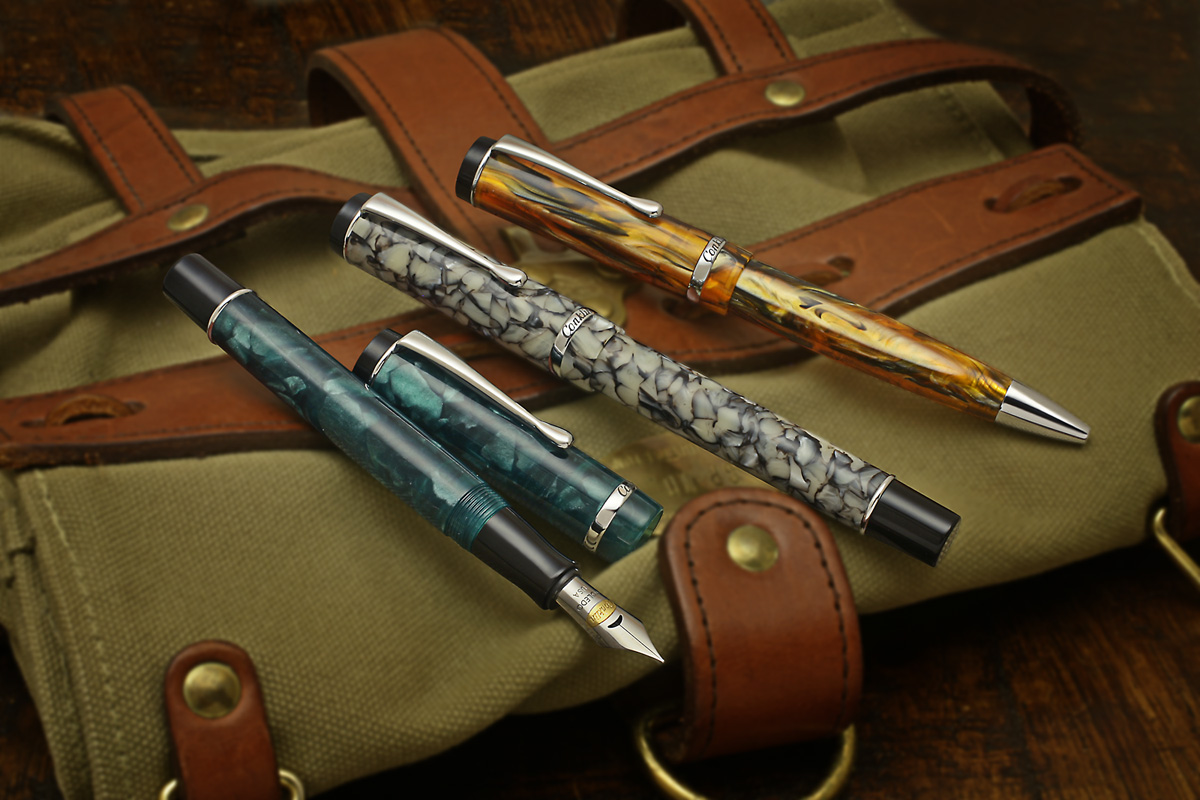 The New Conklin Duragraph Pen Collection Chalet Each Includes 1 Ball Point And Fountain As Diagram