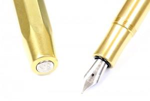 Kaweco Brass Sport Fountain Pen Closeup