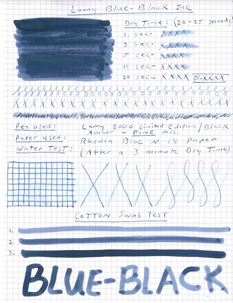 Lamy Blue Black Ink