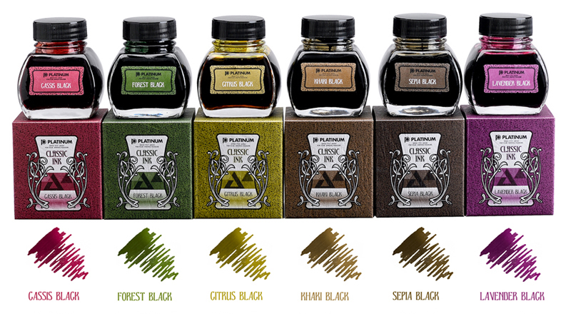 Platinum Classic Fountain Pen Ink Colors