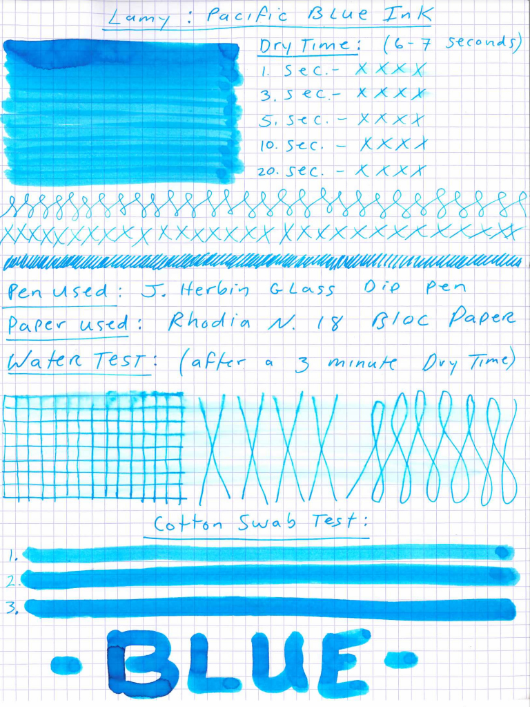 Lamy Pacific Blue Ink