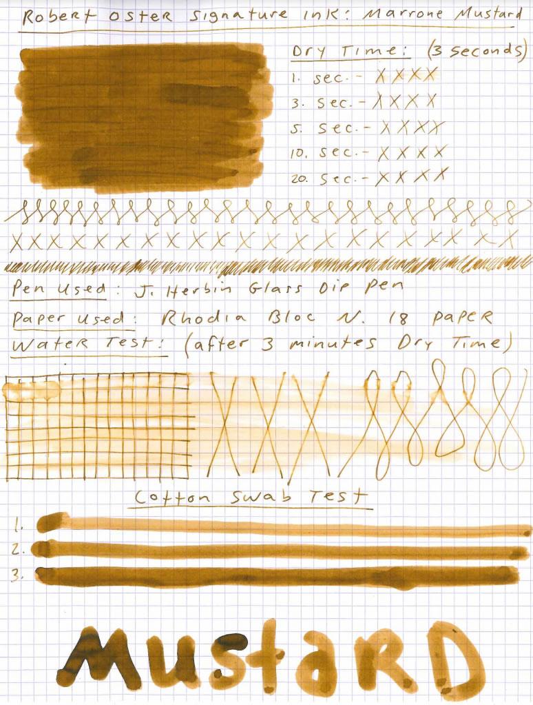 Robert Oster Marrone Mustard Ink