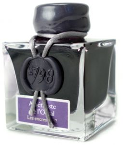 J Herbin 1798 Amethyste de l'Oural fountian pen ink bottle
