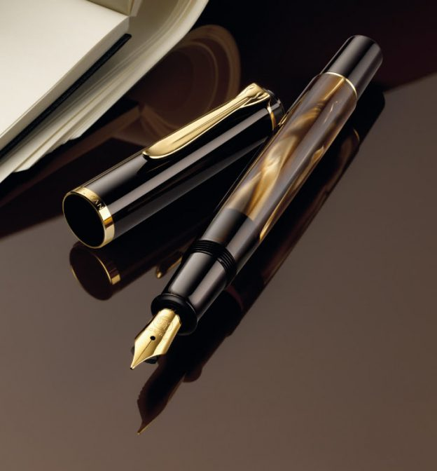 Pelikan M200 Marbled Brown Fountain Pen