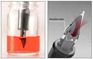 Platinum Procyon Fountain Pen Breather Hole