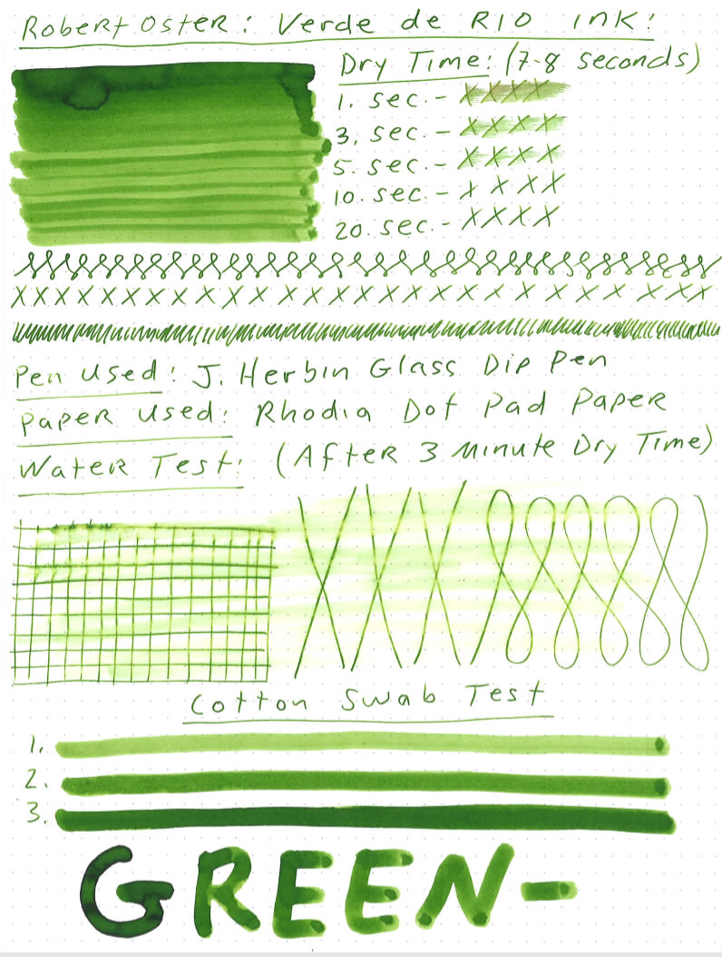 Robert Oster Verde de Rio Ink Review