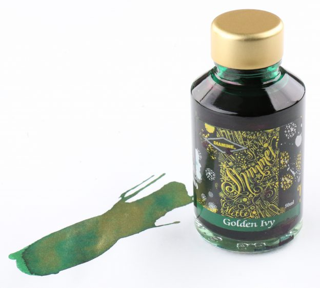Diamine Golden Ivy Shimmering Fountain Pen Ink Bottle