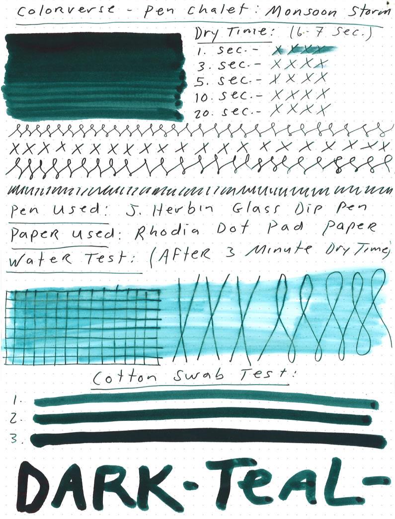 Colorverse Pen Chalet Monsoon Storm Ink - Pen Chalet
