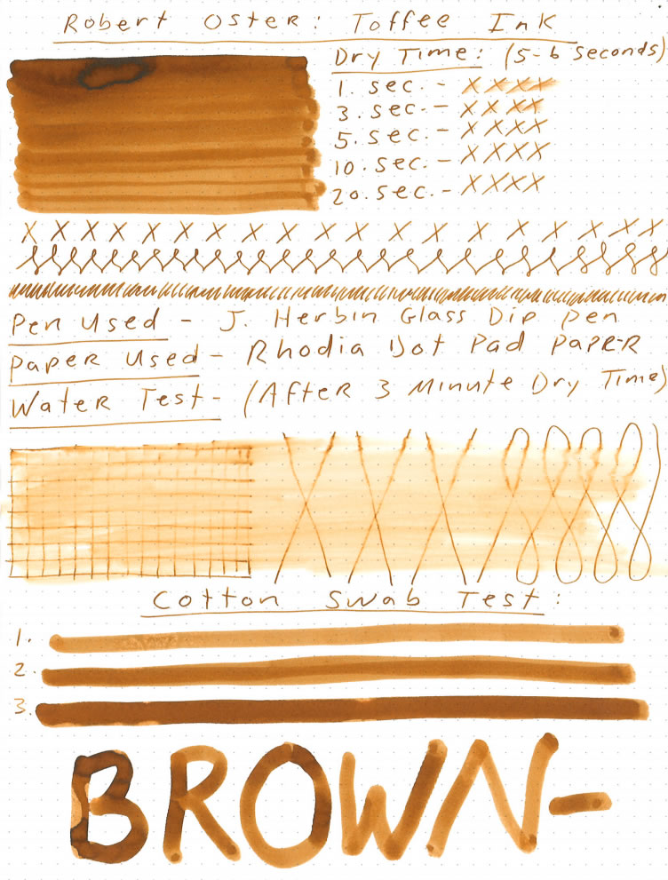 Robert Oster Toffee Ink Review