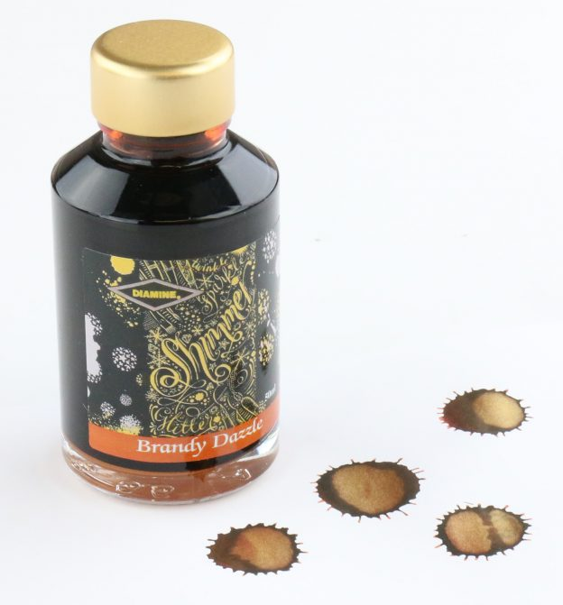Diamine Brandy Dazzle Shimmering Fountain Pen Ink