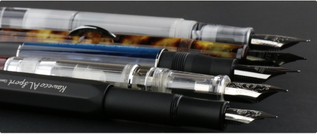 different types of fountain pens, how to fill fountain pens, how to fill your fountain pen with ink, how to ink your fountain pen, fontain pen, fountain pens, fountain pen ink, pen chalet