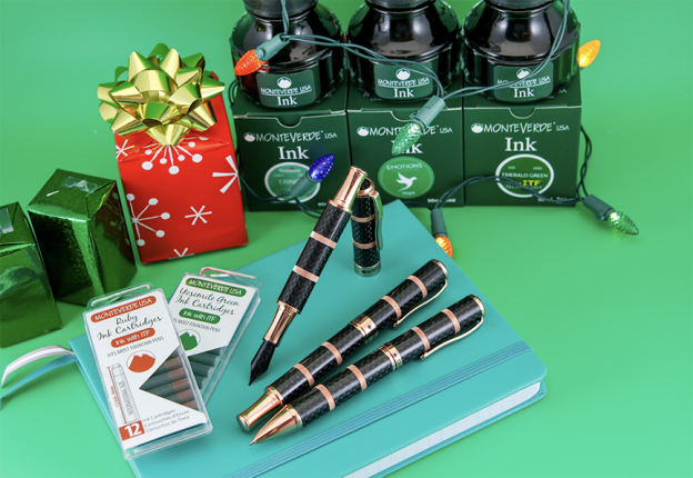 Clear Sailing Giveaway from Pen Chalet and Monteverde features the Regatta Flagship inks and ink cartridges
