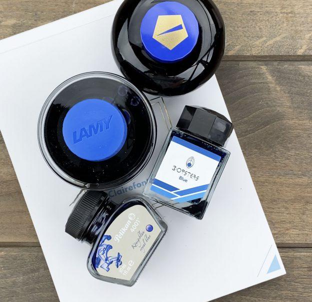 blue ink comparison with pen chalet's ink comparisons