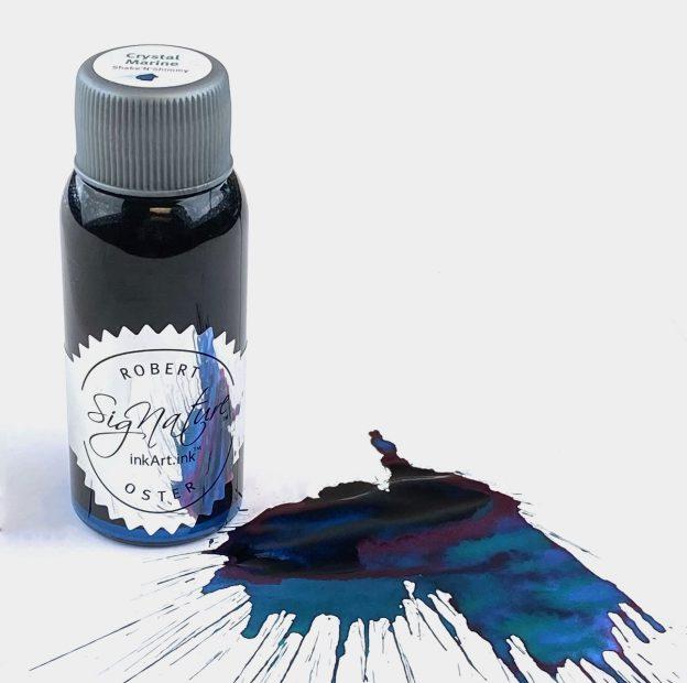 robert oster crystal marine shimmering ink