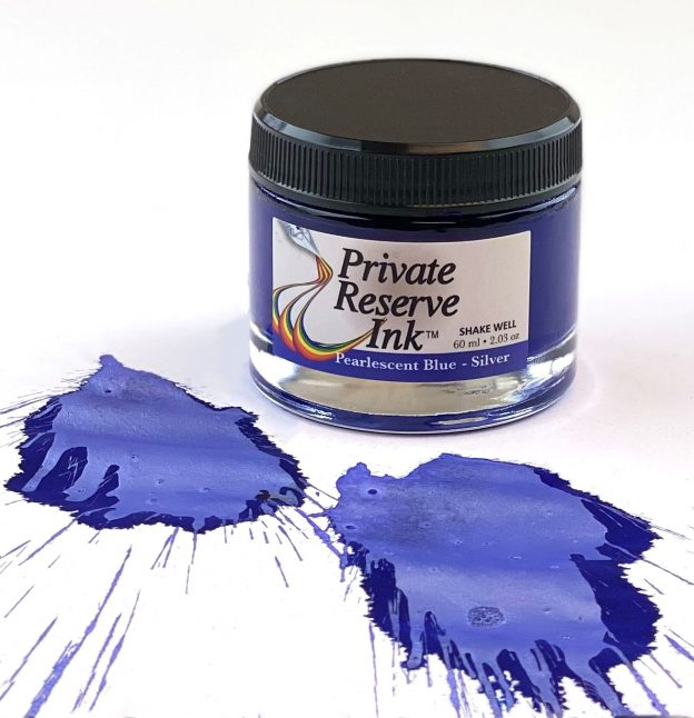 Private Reserve Pearlescent Blue-Silver Ink