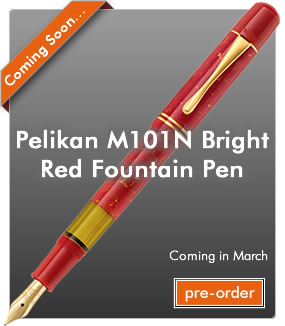Pelikan M101N Bright Red Fountain Pen