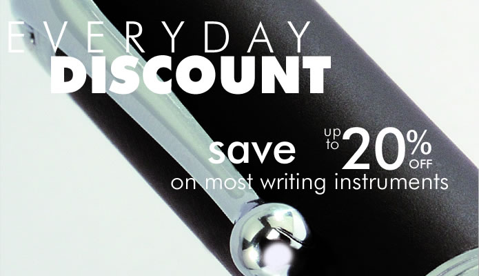 Sale on all writing instruments
