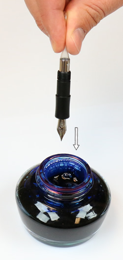 How to Fill a Squeeze Converter Fountain Pen - Add Ink