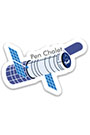 Pen Chalet Retro Sticker