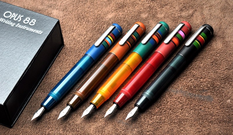 Opus 88 Fountain Pen Colors Capped