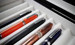 Brown Pen Display Cases