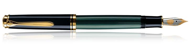 Black / Green Pelikan Souveran 1000 Collection Fountain Pens