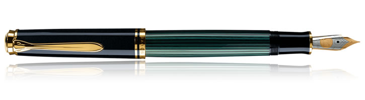 Pelikan Souveran 600 Collection Fountain Pens in Black / Green