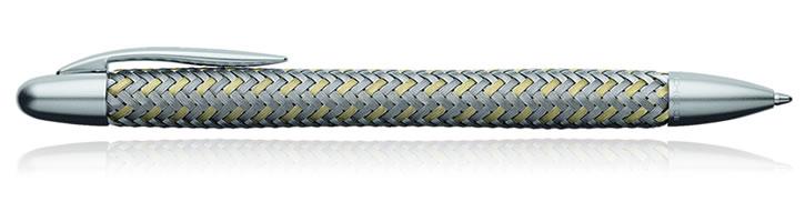 ... Porsche Design TecFlex P3110 Collection Ballpoint Pens in Steel / Gold