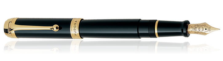 Black / Gold Aurora Talentum Classic Collection Fountain Pens