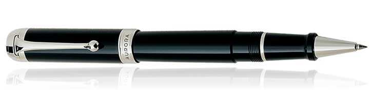 Black / Chrome Aurora Talentum Classic Collection Rollerball Pens