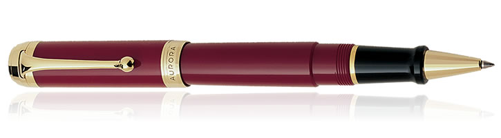 Burgundy / Gold Aurora Talentum Classic Collection Rollerball Pens