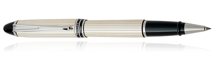 Aurora Ipsilon Sterling Collection Rollerball Pens in Sterling Silver