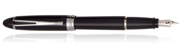 Aurora Ipsilon Deluxe Collection Fountain Pens in Black / Chrome