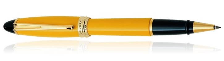 Aurora Ipsilon Resin Collection Rollerball Pens in Yellow