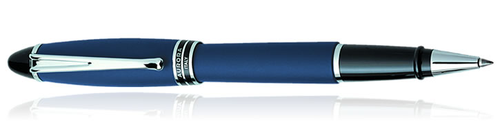Aurora Ipsilon Satin Collection Rollerball Pens in Blue