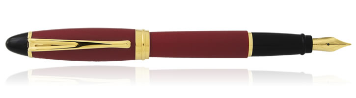 Aurora Ipsilon Satin Collection Fountain Pens in Burgundy
