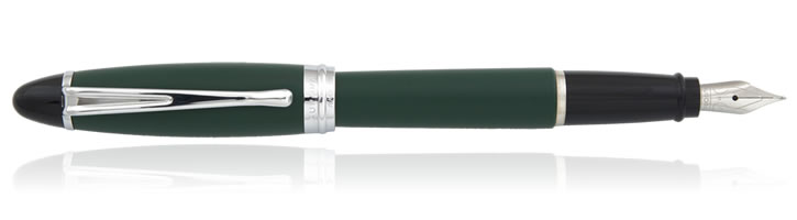 Aurora Ipsilon Satin Collection Fountain Pens in Green