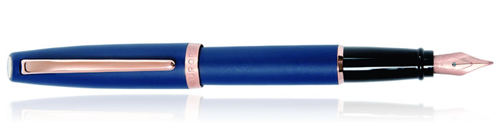 Blue Matte Aurora Style Collection Fountain Pens