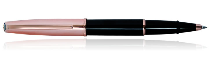 Aurora Style Collection Rollerball Pens in Black / Rose Gold Cap