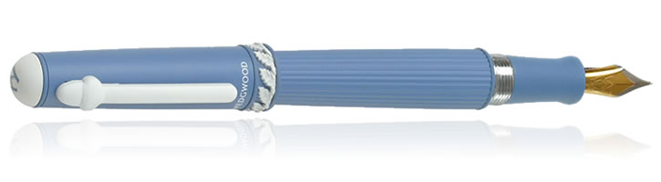 Wedgwood DKP Jasperware Collection Fountain Pens in Blue