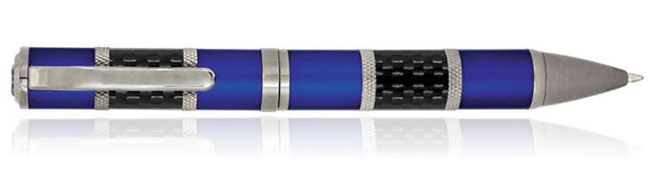 Blue Carbon Monteverde Regatta Series Ballpoint Pens