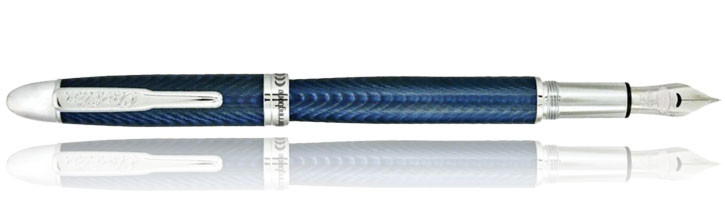 Conklin Herringbone Series Fountain Pens in Navy Blue