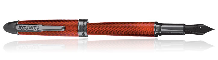 Conklin Herringbone Series Fountain Pens in Orange