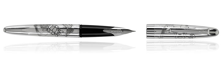 Turtles Namiki Sterling Silver Collection Fountain Pens