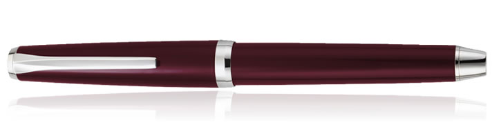 Pilot Metal Falcon Collection Fountain Pens in Burgundy