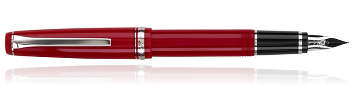 Pilot Falcon Collection Fountain Pens in Red Rhodium